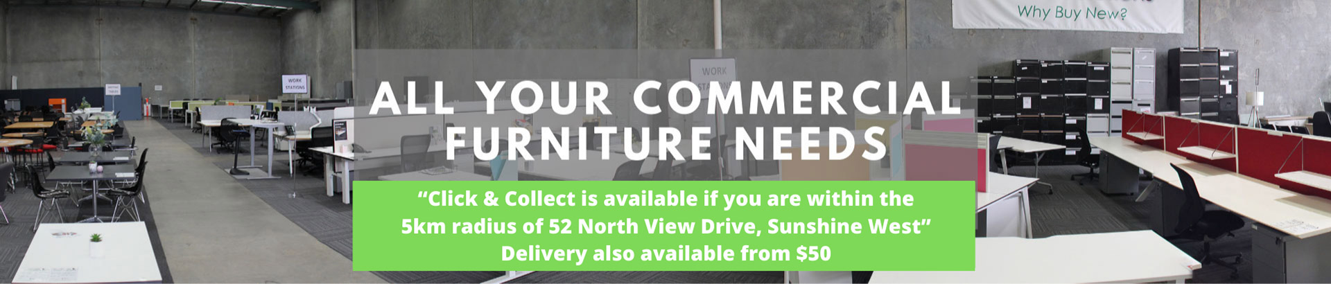 Now offering click & collect within 5km radius. Delivery available from $50